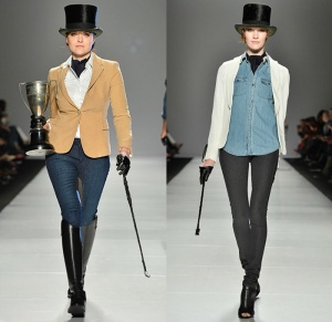 triarchy-canada-2014-2015-fall-autumn-winter-fashion-womens-world-mastercard-toronto-denim-jeans-knee-panel-equestrian-rider-blazer-knit-whip-belt-02x